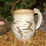 earthy birch tree bark coffee mug s..